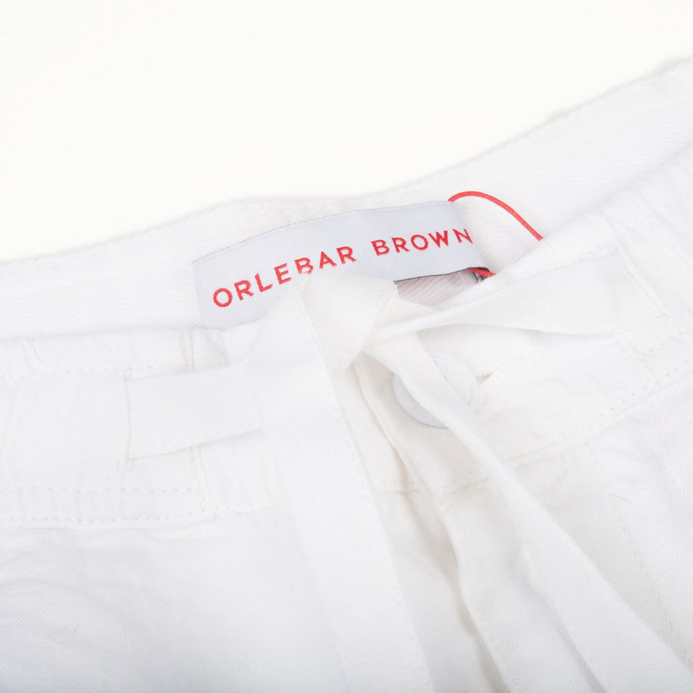 Poloshow short Orlebar Brown Weiß Harton Linen 26904832 3