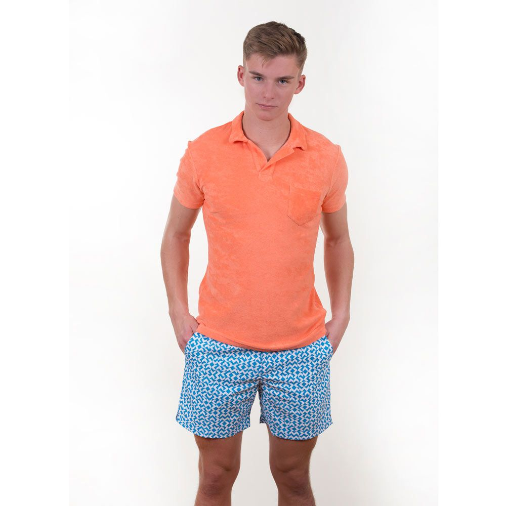 Poloshow short Orlebar Brown Bahama Blue  Bulldog Frecce 26926932 6