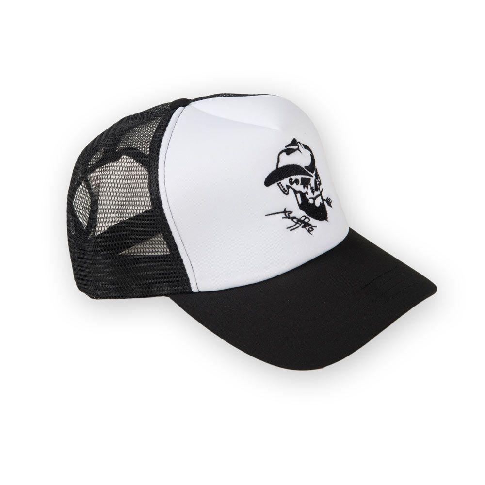 Poloshow Cap Black White 1