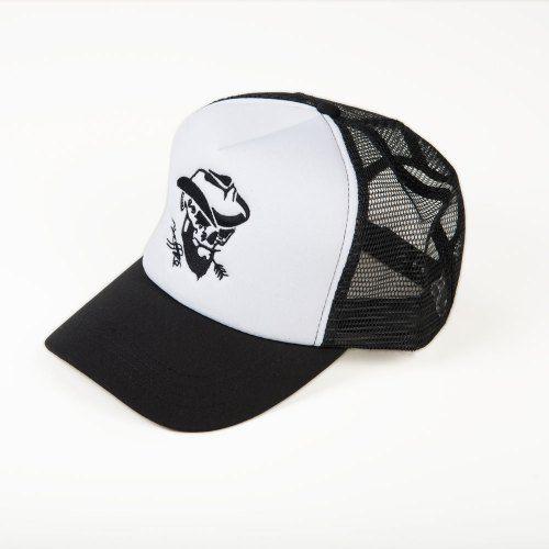 Poloshow Cap Black White 3
