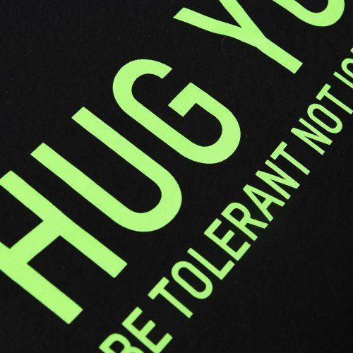 Poloshow Hug You T Shirts Schwarz Grün 3