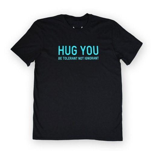 Poloshow Hug You T Shirts SchwarzBlau 1