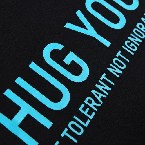 Poloshow Hug You T Shirts SchwarzBlau 3