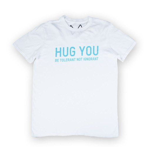 Poloshow Hug You T Shirts WeissBlau 1