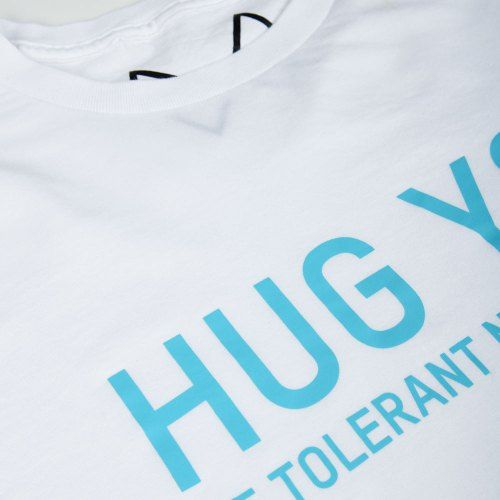 Poloshow Hug You T Shirts WeissBlau 3
