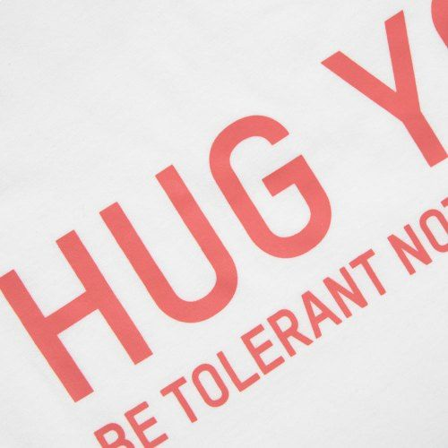 Poloshow Hug You T Shirts WeissPink 3