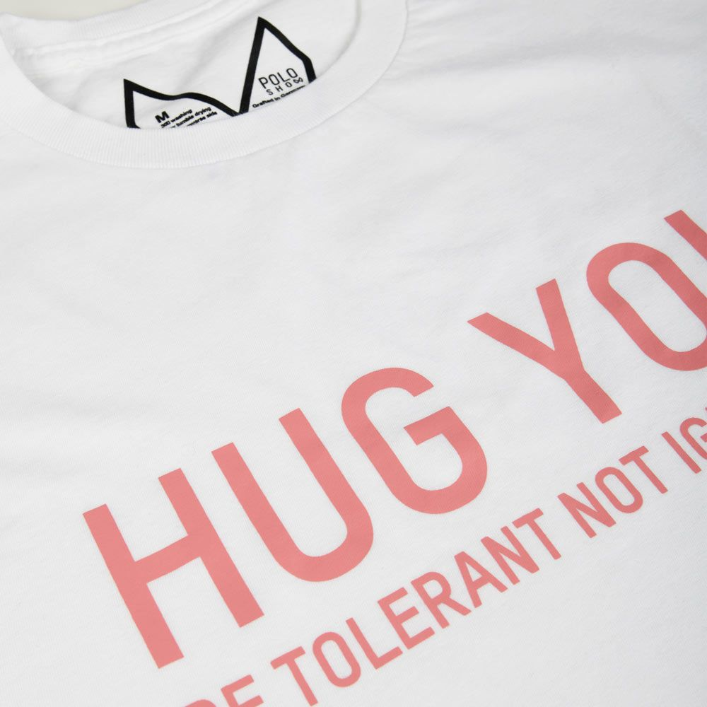Poloshow Hug You T Shirts WeissPink 4
