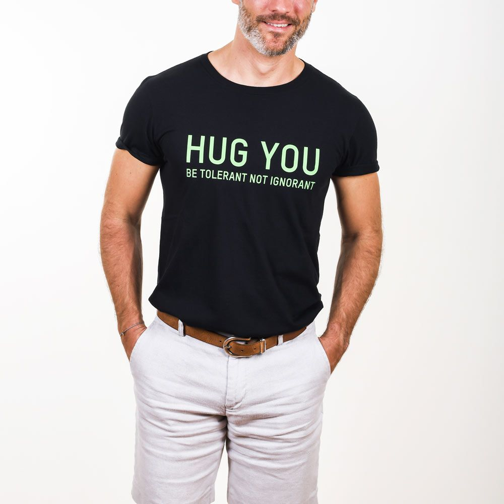 Poloshow Hug You T Shirts Schwarz Grün 5