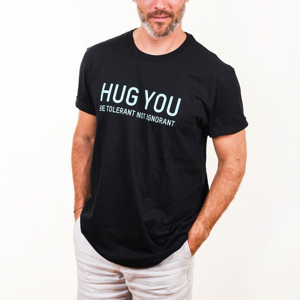 Poloshow Hug You T Shirts SchwarzBlau 5