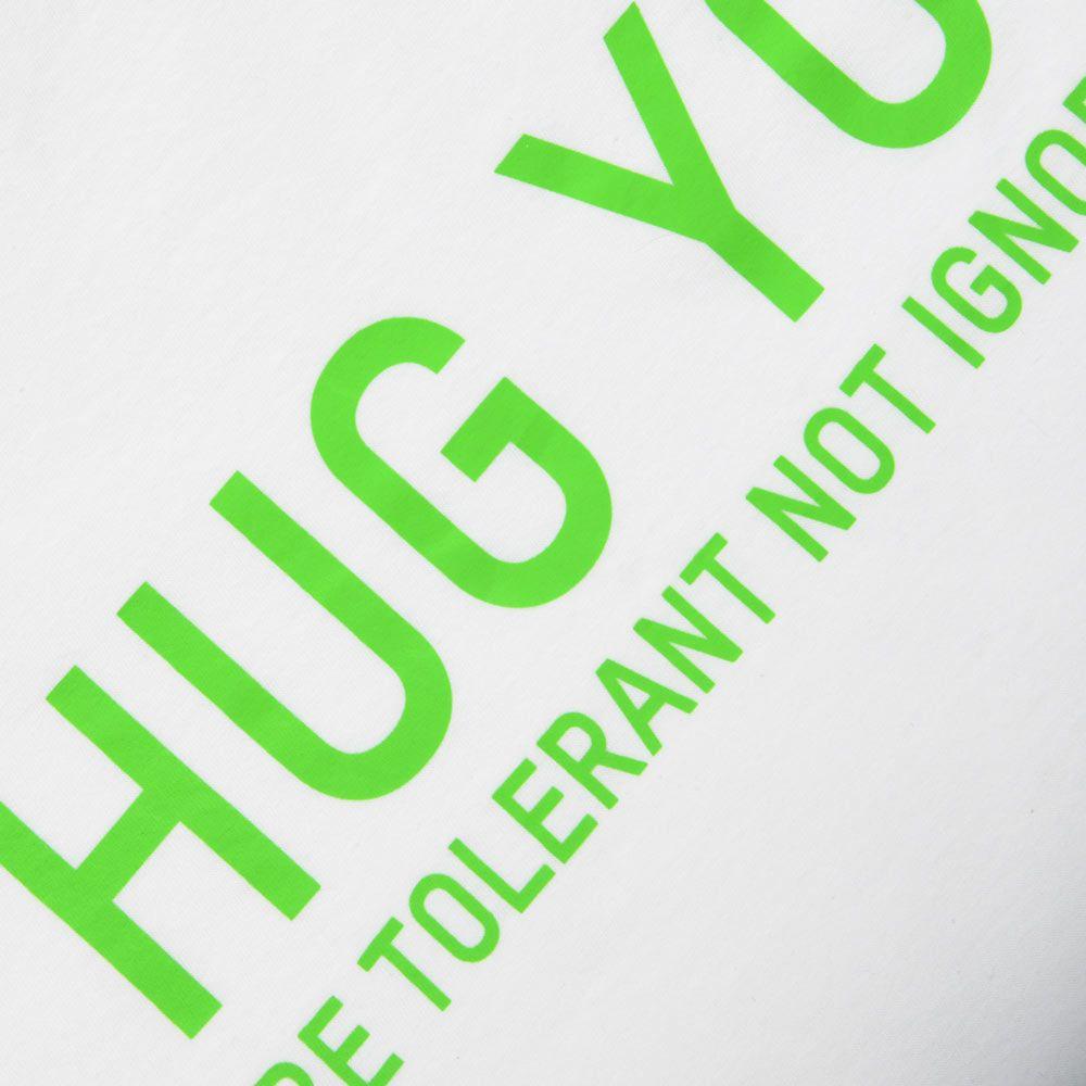 Poloshow Hug You T Shirts WeissGrün 3