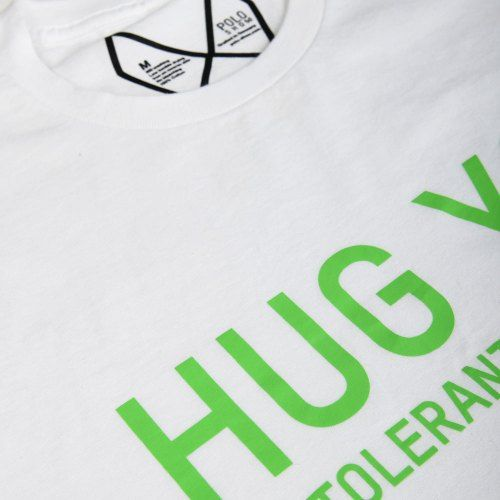 Poloshow Hug You T Shirts WeissGrün 4