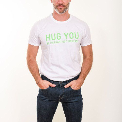 Poloshow Hug You T Shirts WeissGrün 5