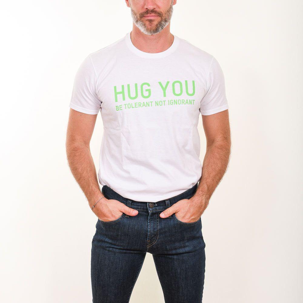 Poloshow Hug You T Shirts WeissGrün 5