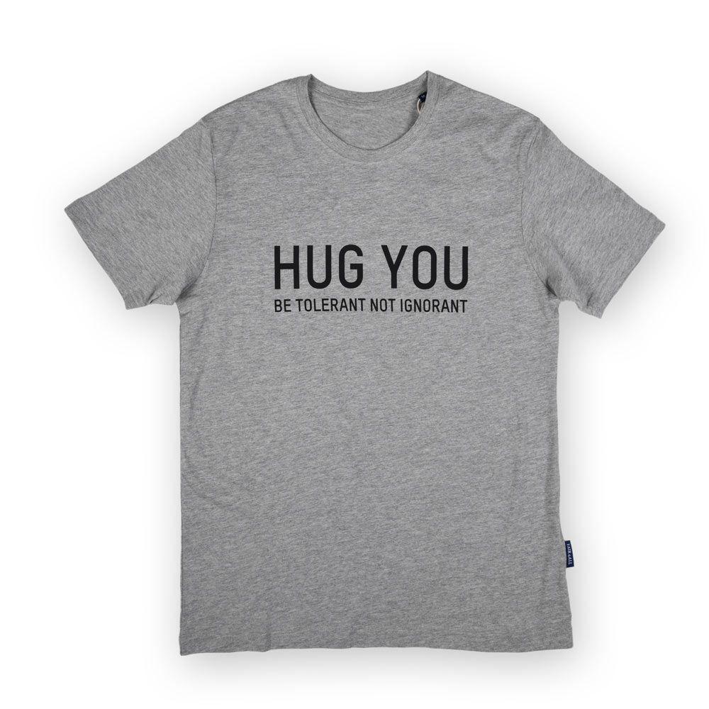 Poloshow Hug You T Shirts Grau Schwarz 1