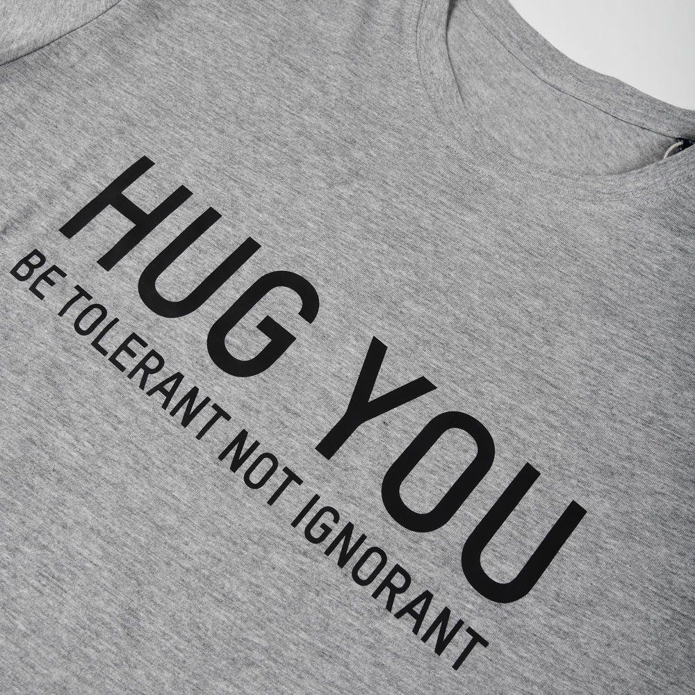 Poloshow Hug You T Shirts Grau Schwarz 3