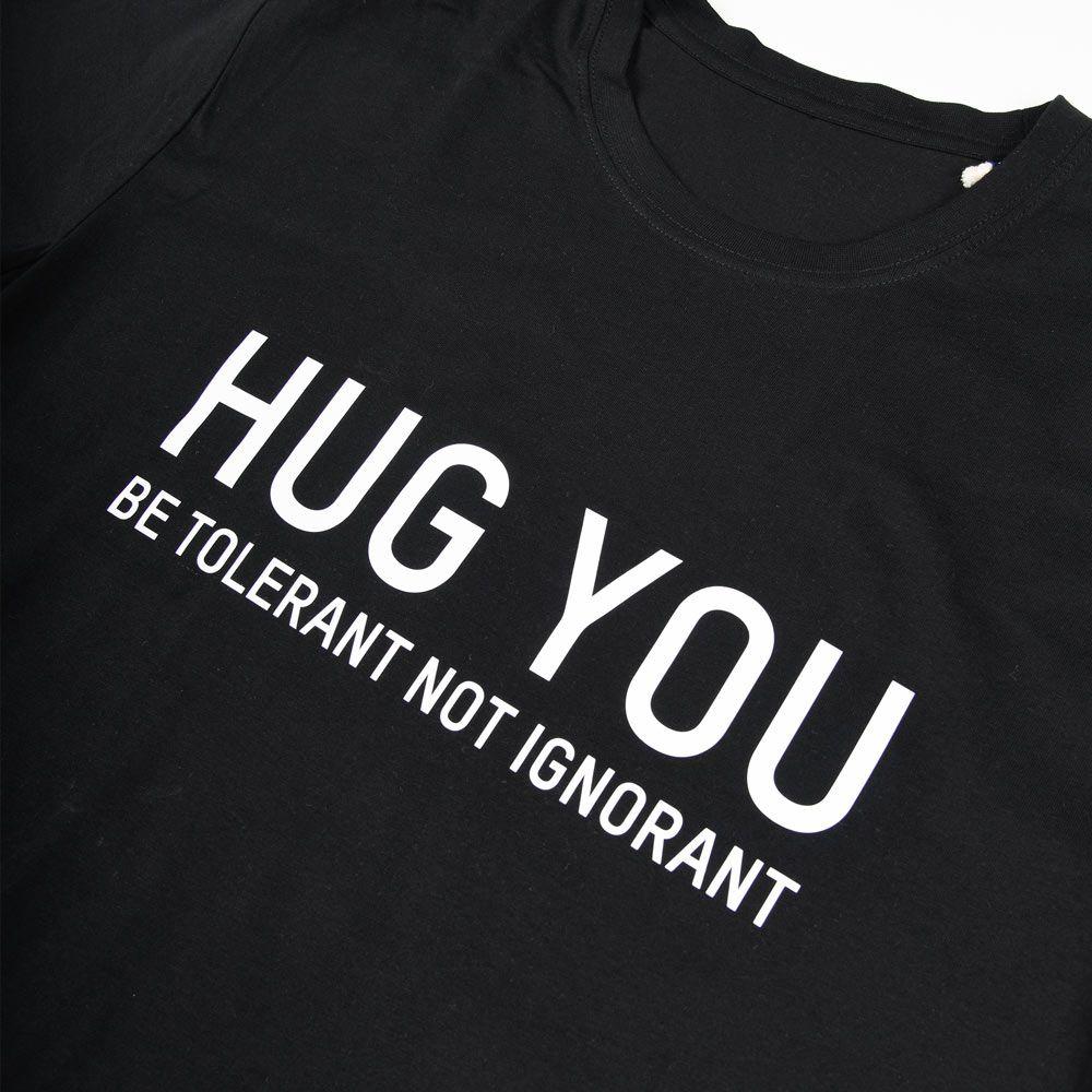 Poloshow Hug You T Shirts Schwarz Weiß 3