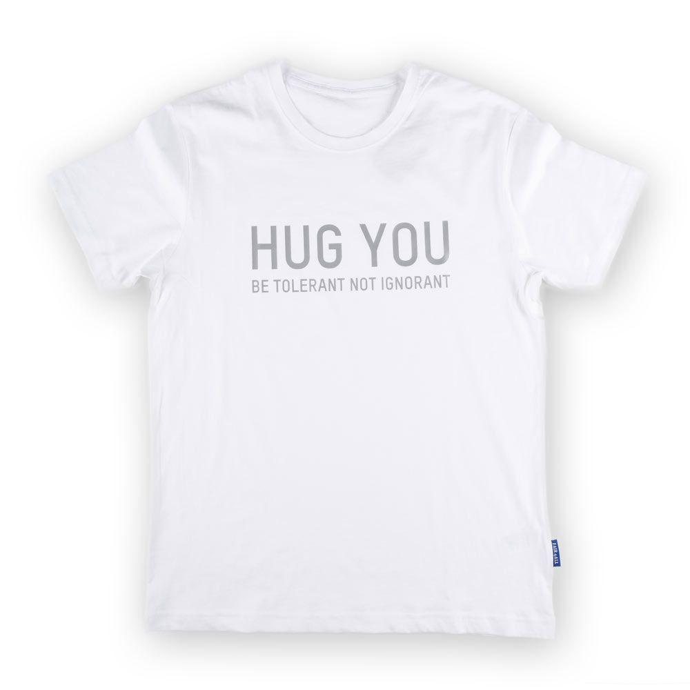 Poloshow Hug You T Shirts Weiß Grau 1