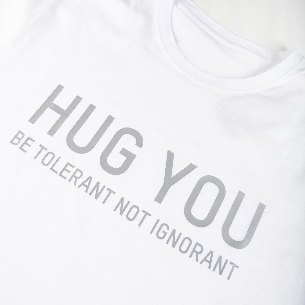 Poloshow Hug You T Shirts Weiß Grau 3