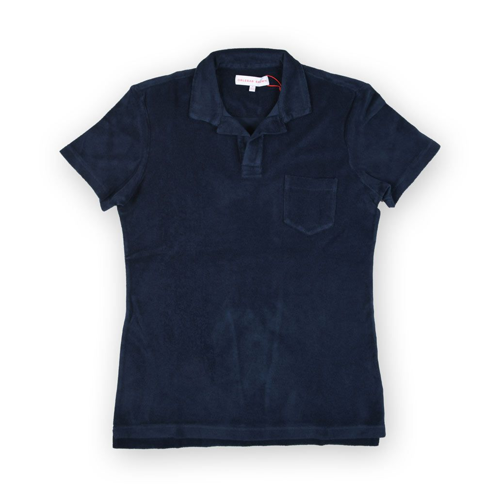 Poloshow polo Orlebar Brown Navy Terry 250118M 1