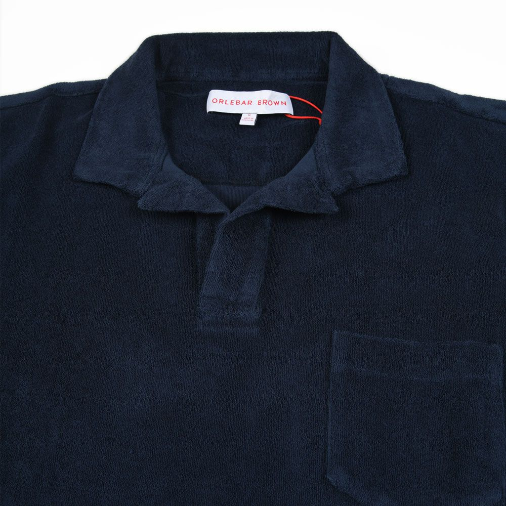 Poloshow polo Orlebar Brown Navy Terry 250118M 3