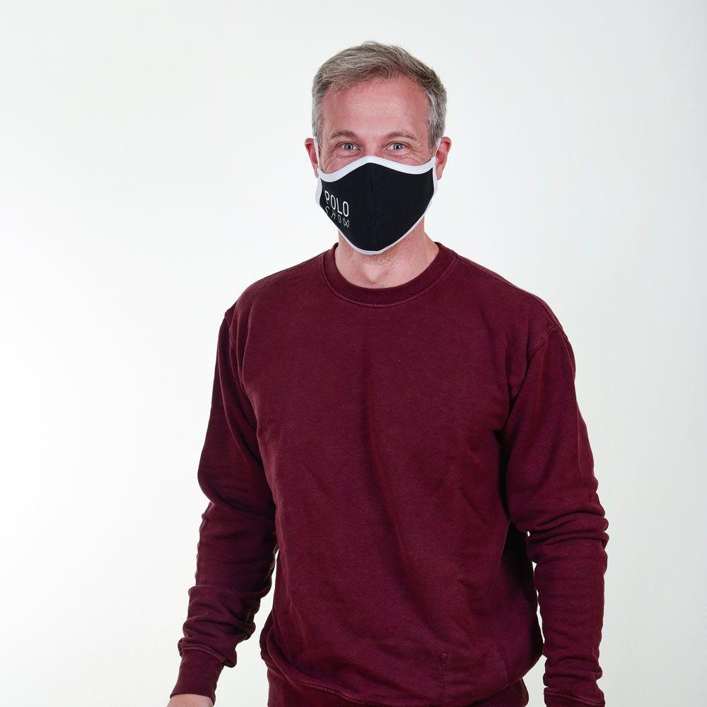 Poloshow Maske Schwarz 4