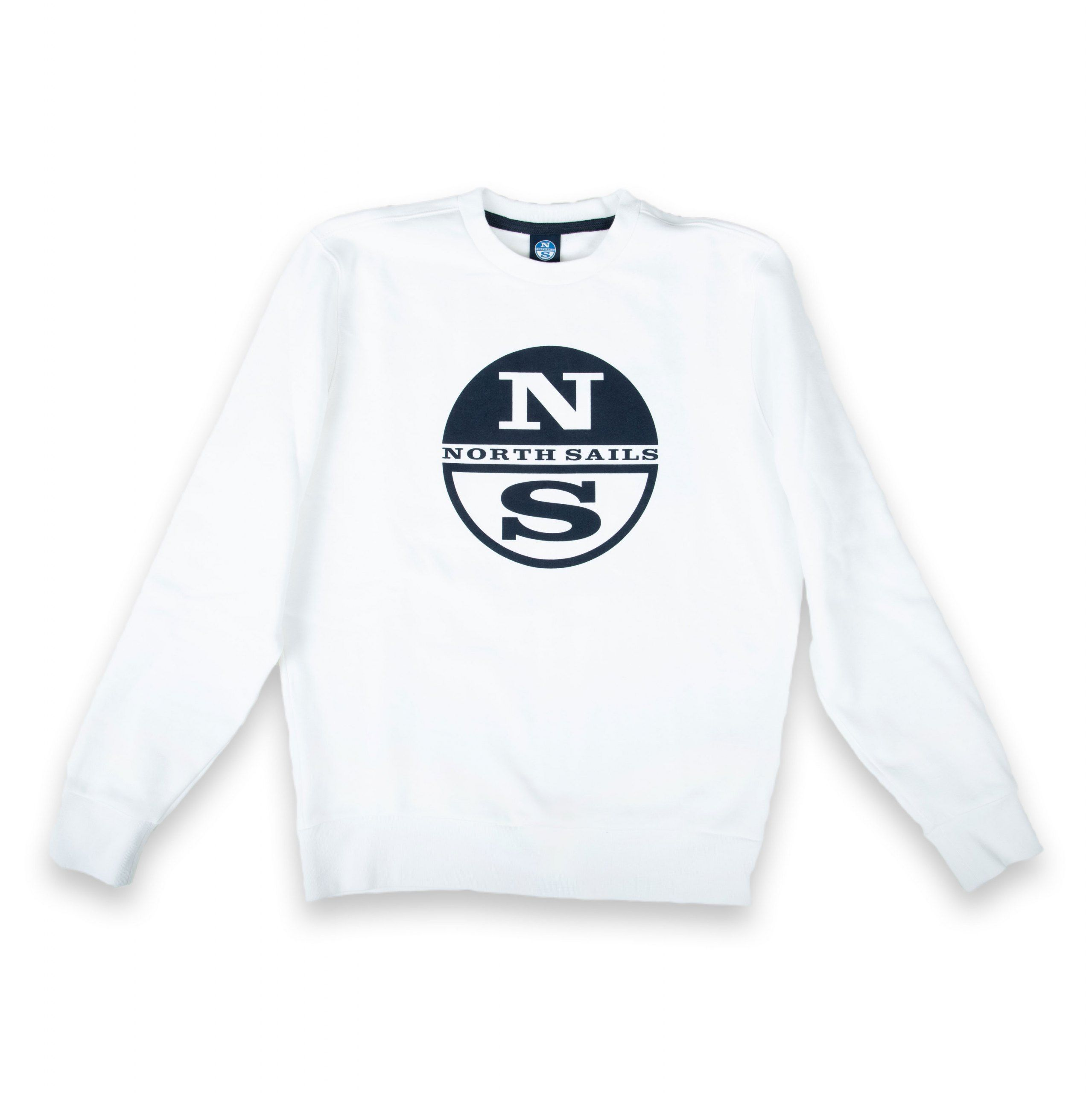 Poloshow North Sails Sweatshirt Weiß Graphic 691542 000 0101 500 1