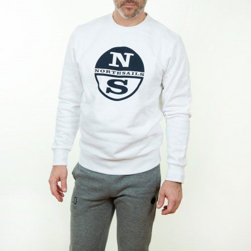 Poloshow North Sails Sweatshirt Weiß Graphic 691542 000 0101 500 5